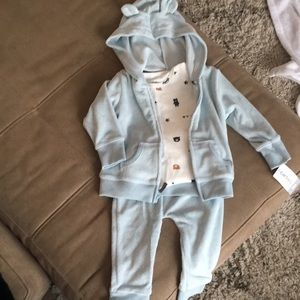 NWT Carters 3-piece boys bear outfit size 9 months
